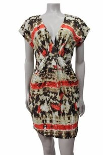 Vince Camuto short dress Beige Rumpled Satin on Tradesy