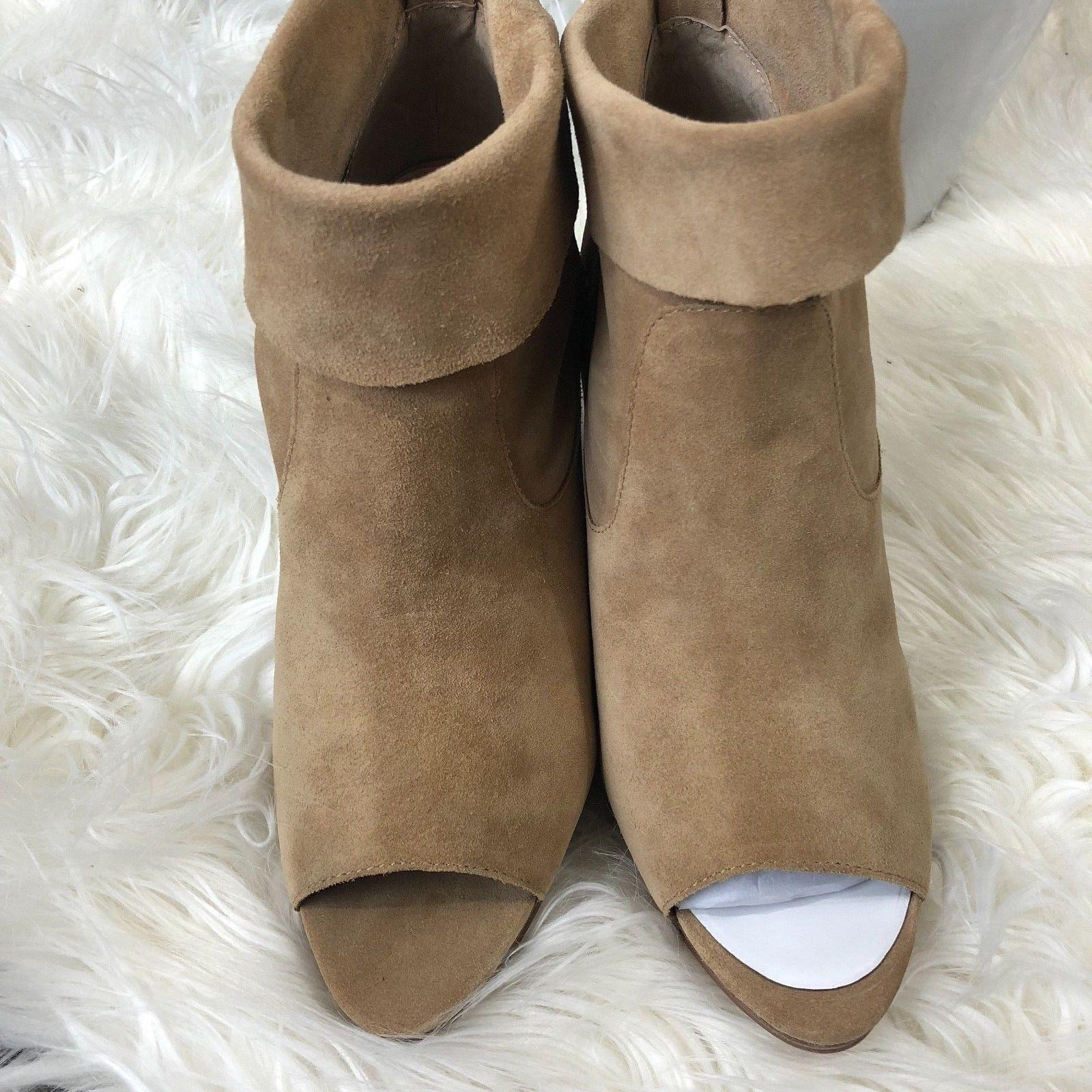 f283ab450087 ... Vince Camuto Camuto Camuto Tan Ankle Chunky Heel Wooden Open Toe Boots  Booties Size US ...