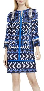 Vince Camuto short dress blue Tribal-print on Tradesy