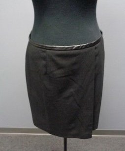 Vince Camuto Polyester Blend Lined Wrap Front Mini Sm7517 Skirt Black