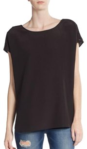 Vince Cap Sleeve Top Black