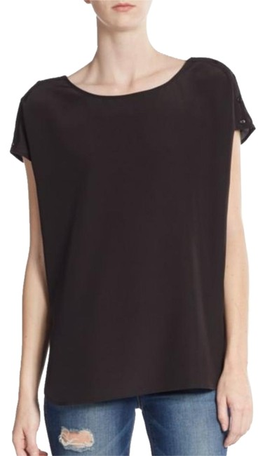 durable modeling Vince Black Silk Cap Sleeved Top - 60% Off Retail