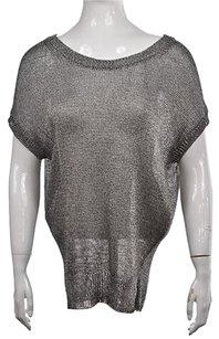 Vince Womens Silver Crewneck Sweater