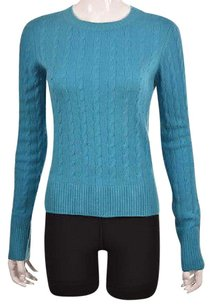 Vince Womens Crewneck Cable Knit Cashmere Casual Sweater