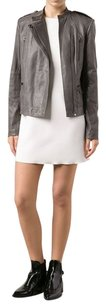 Vince Leather Lambskin Cargo Soft Gray Leather Jacket