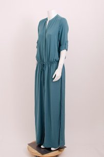 Blue Maxi Dress by Vince Washed Satin Maxi Teal
