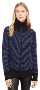 Vince Navy Zip Up Sweater
