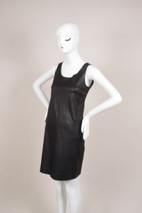 Vince short dress Black Leather Paneled on Tradesy