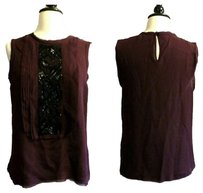 Vince Shirt Silk Silk Silk Silk Silk Shirt Plum Top Purple