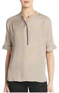 Vince Taupe Contrast Top Beige