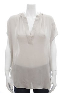 Vince Light Silk Top Gray