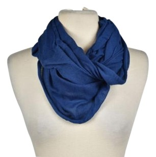Vince Vince Womens Blue Infinity Scarf One Cotton Solid Casual