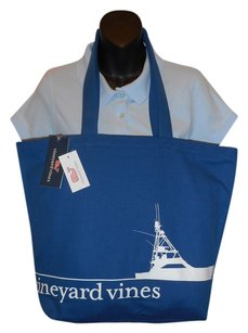 Vineyard Vines Cotton Beach Boat Tote in Blue