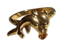 Vintage Dolphins Small Unique fits 3-6 size vintage ring metal Seattle WA estate