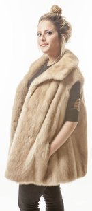 Fur Mink Fox Coat Vest