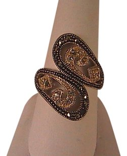 Vintage Gorgeous Sterling Silver Marcasite CZ Swirl Ring