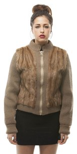 VINTAGE RABBIT FUR Baseballjacket Fur Coat