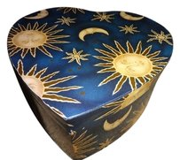Vintage Vintage Sun Star Moon spiritual box Great for jewelry crafts 8.8 by 8 inch 4 inch height