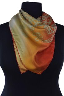 Vivienne Westwood Vivienne West Wood Womens Orange Scarf One Silk Printed Causal