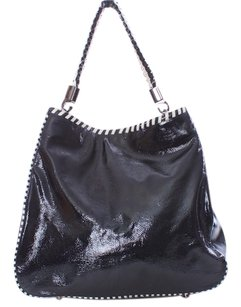 W by Worth Patent Leather Tote in BLACK