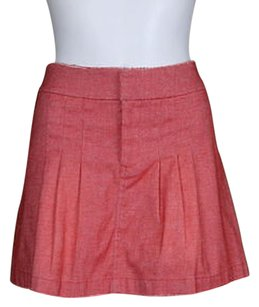 W118 by Walter Baker Womens White Above Knee Casual Skirt Red