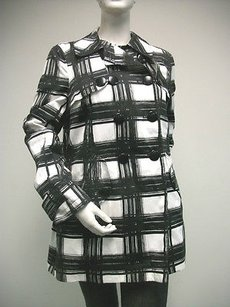 W118 by Walter Baker Black White Check Coat