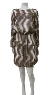 W118 by Walter Baker Abstract Print Blouson Boatneck Dress