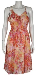 W118 by Walter Baker Womens Red Sheath Floral Knee Length Summer Dress