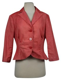 W118 by Walter Baker Walter Womens Red White Blazer Speckled 34 Sleeve Career Wtw Jacket