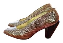 Walter Steiger Leather Gold Pumps