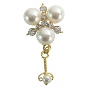 Wedding Classified Apparel Accessories Cute Dangling Pearls Brooch Pin