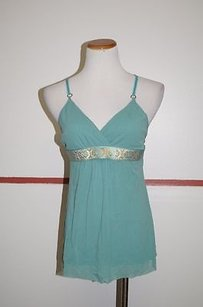 Weston Wear Racerback Sleeveless Banded Middle 20355 Top Green