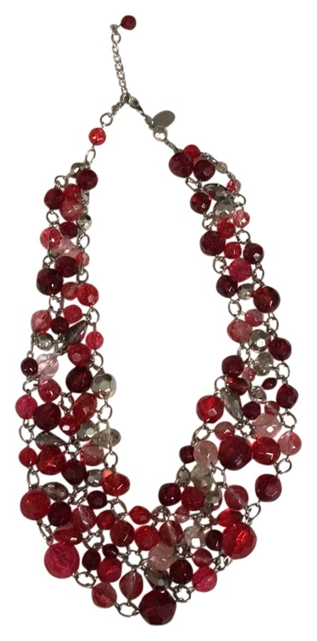 WHBM Red Crystal Bead Necklace