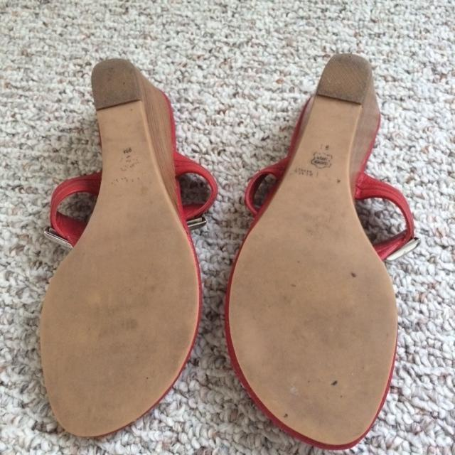 White House | Black Market Red Wedges Size US 9 Regular (M, B ...