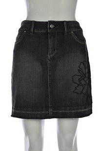 White House | Black Market Womens Straight Denim Skirt Black
