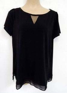 White House | Black Market Crepe Mesh Tunic