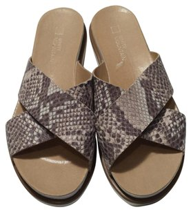 White Mountain beige snake Sandals