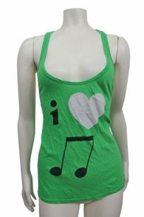 Wildfox The I Love Music Baggy Boy Sleeveless Top Green