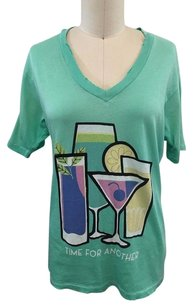 Wildfox Distressed Time For Another T Shirt Mint