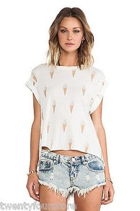 Wildfox Couture Breakfast T Shirt White