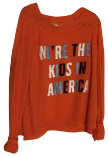 Wildfox Oversized Red Patriotic Sweater