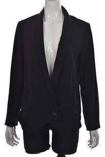 Willow & Clay Willow Amp Clay Womens Black Blazer Long Sleeve Solid Career Jacket