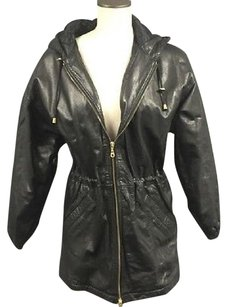 Wilsons Leather Wilsons Womens Long Sleeves Zipper Front Hooded Leather Jacket 5269a Trench Coat