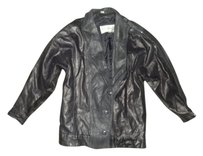 Wilsons Leather Vintage Clothing black Leather Jacket