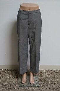 Womyn Dark Grey Polyester Blend Clasp Flat Front Dress 14028 Pants