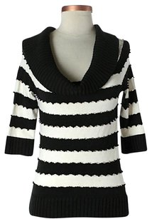Worth Silk Bold Stripe Cut-out Sweater