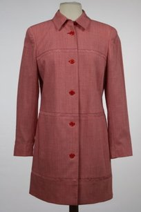 Worth Womens Red Trench Trench Coat