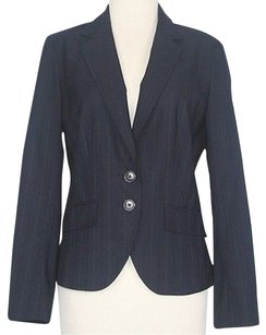 Worthington Worthington Navy Green Pin Striped Blazer B14