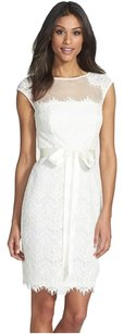 Xscape short dress White Wedding Lace Cap Sleeve on Tradesy