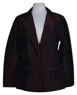 Yansi Fugel Yansi Fugel Womens Metallic Burgundy Basic Jacket Long Sleeve
